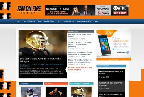 The all new fanonfiresportswire.com